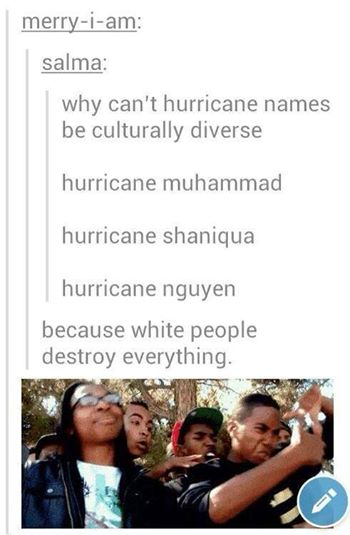 Why hurricanes don't have ethnic names