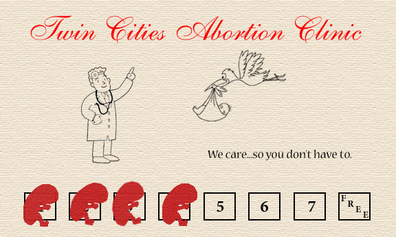 Frequent visitor card abortion clinic