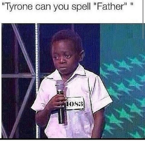Tyrone at the spelling bee