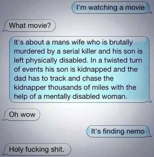 Messed up plot finding nemo