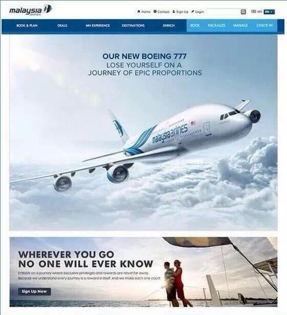 Malaysian airlines advertisement