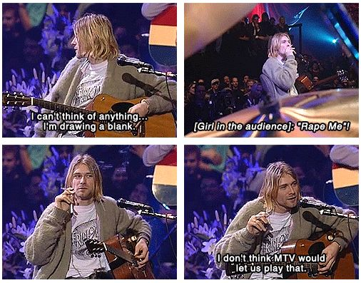 Nirvana song request MTV unplugged