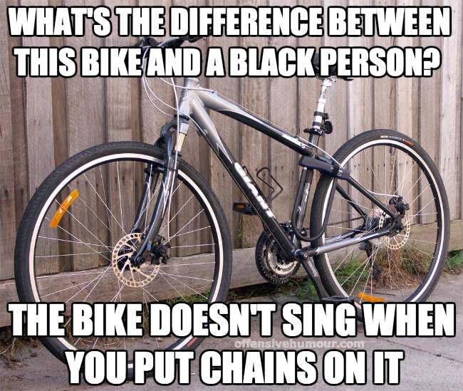 The bike doesn't sing