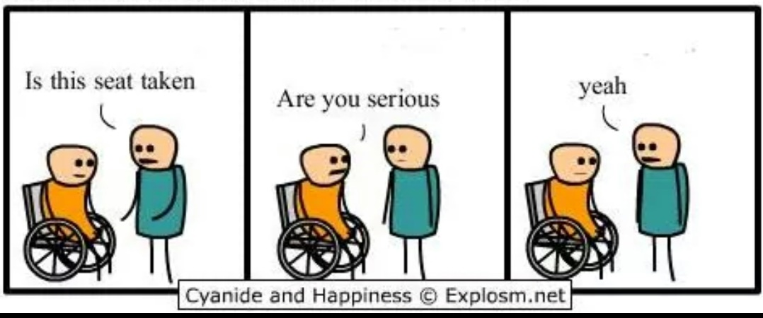 Cyanide and Happiness - Seat taken