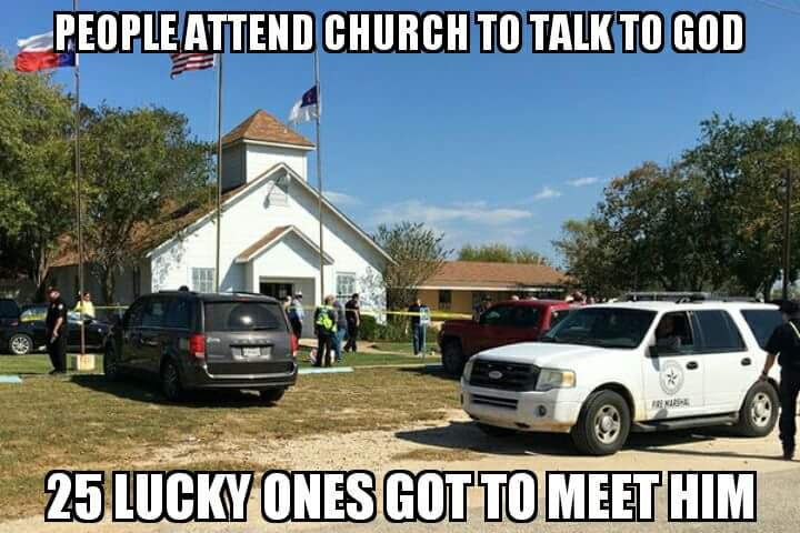 Going to church and meeting god